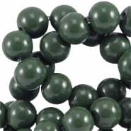 Glasperlen 8mm Dark green