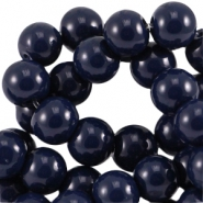 Glasperlen 8mm Dark navy blue