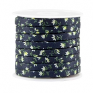 Trendy Kordel flach 5mm Dark blue