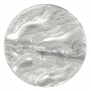 Cabochon Polaris Jais flach 35mm Grey