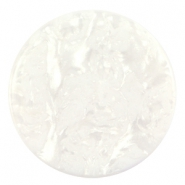 Cabochon Polaris Jais flach 35mm Wit beige