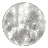 Polaris Cabochon Perseo flach 35mm shiny White grey
