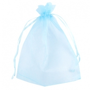 Schmuckbeutel Organza 13x18 cm Light blue