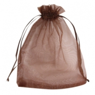 Schmuckbeutel Organza 12x15 cm Dark brown