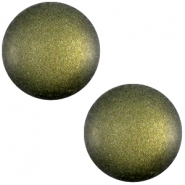Cabochon Polaris sanft Töne matt 12mm Army green