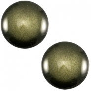Cabochon Polaris sanft Töne shiny 12mm Army green