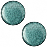 Cabochon Polaris sanft Töne flach 12mm shiny Emerald green