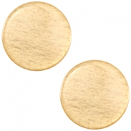 Cabochon Polaris sanft Töne flach 12mm shiny Golden yellow