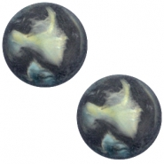 Cabochon Polaris Perseo matt 12 mm Antrazit blue
