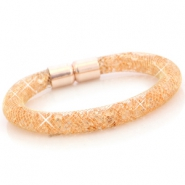 Armbänder mit Kristall Facett Gold - peach orange crystal
