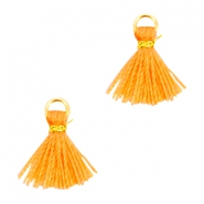 Mini Quaste Ibiza Style Gold-Coral orange