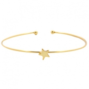 Armband Metall Stern Gold
