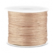 Macramé band 0.7mm Dark champagne beige