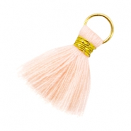 Perlen Quaste Ibiza Style 2cm Gold-Light peach orange