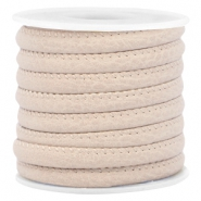 Gestepptes Leder Imitat 6x4mm Light beige brown