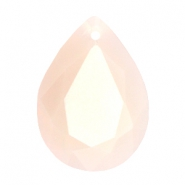 Facett Anhänger SQ Tropfenform 13x18mm Beige light pink