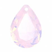Facett Anhänger SQ Tropfenform 13x18mm Rose water opal