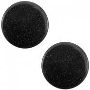 12 mm flach Super Polaris Elements Cabochon Nero schwarz