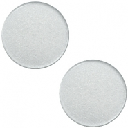 12 mm flach Super Polaris Elements Cabochon Ice grey