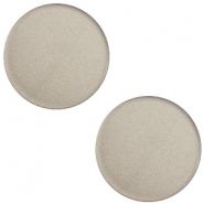12 mm flach Super Polaris Elements Cabochon Dusty grey