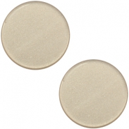 12 mm flach Super Polaris Elements Cabochon Light taupe