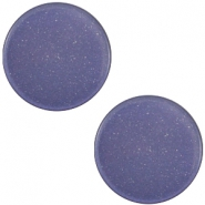 20 mm flach Super Polaris Elements Cabochon Midnight blue