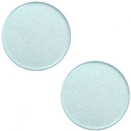 12 mm flach Super Polaris Elements Cabochon Haze blue