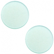 7 mm flach Super Polaris Elements Cabochon Light aqua green