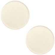 12 mm flach Super Polaris Elements Cabochon Silk beige
