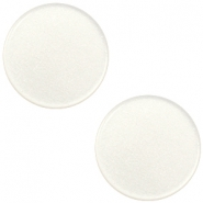 12 mm flach Super Polaris Elements Cabochon Antique white