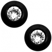 12 mm classic Cabochon Super Polaris Elements SS29 Swarovski Nero schwarz