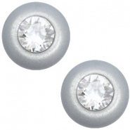 12 mm classic Cabochon Super Polaris Elements SS29 Swarovski Ice grey