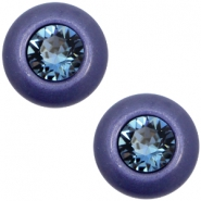 12 mm classic Cabochon Super Polaris Elements SS29 Swarovski Midnight blue