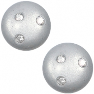 12 mm classic Cabochon super Polaris Elements 3 Swarovski Steine Ice grey