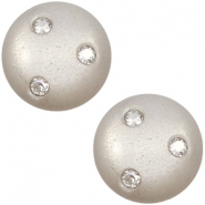 12 mm classic Cabochon super Polaris Elements 3 Swarovski Steine Silver shade