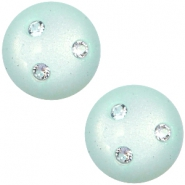 12 mm classic Cabochon super Polaris Elements 3 Swarovski Steine Light aqua green