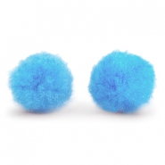 Pompom Anhänger 8mm Light blue