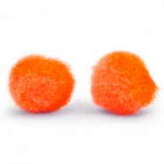 Pompom Anhänger 8mm Spicy orange