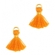 Mini Perlen Quaste Ibiza Style Gold-Russet orange