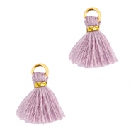 Mini Perlen Quaste Ibiza Style Gold-Antique violet