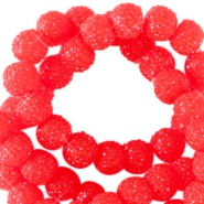 Sparkling beads 8mm Candy red