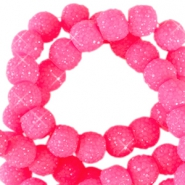 Sparkling beads 8mm Neon pink