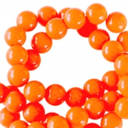 6 mm acryl Perlen Neon orange