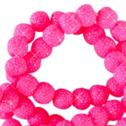 Sparkling beads 6mm Flourish fuchsia