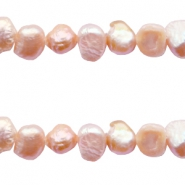 Süsswasserperlen Nugget 4-5mm Vintage peach rose
