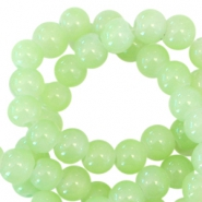 4 mm Glasperlen opal Spring green