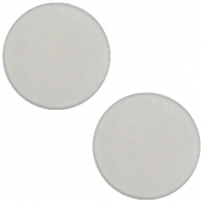 7 mm flach Cabochon Polaris Elements matt Ice grey