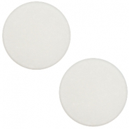 20 mm flach Cabochon Polaris Elements matt Light silver shade