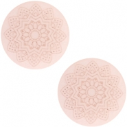 12 mm flach Cabochon Polaris Elements Mandala print Powder pink