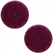 12 mm flach Cabochon Polaris Elements Mandala print Royale aubergine